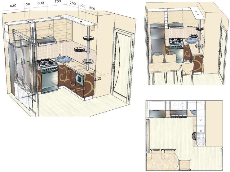 маленькие кухни своими руками чертежи