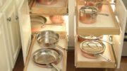 Выдвижные системы хранения на кухне своими руками