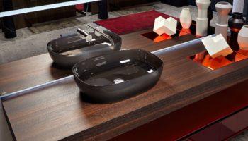 Прозрачные раковины для ванной Senso от Antonio Lupi Design