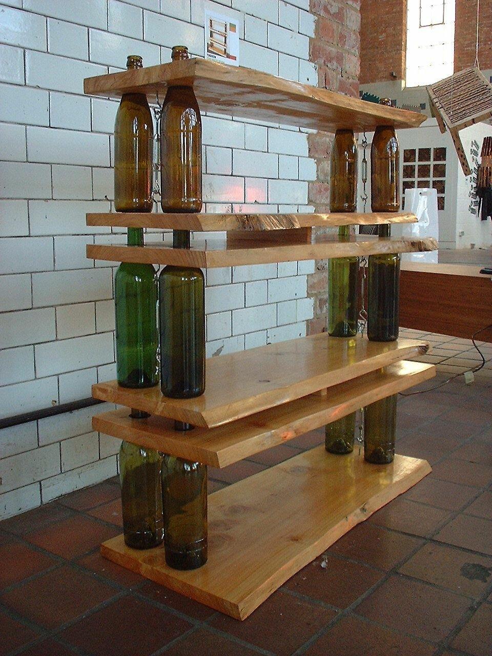 этажерка из бутылок