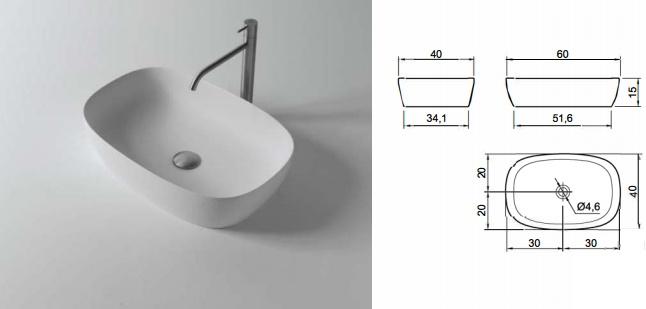 Прозрачные раковины для ванной Senso от Antonio Lupi Design для встраивания в столешницы и тумбы