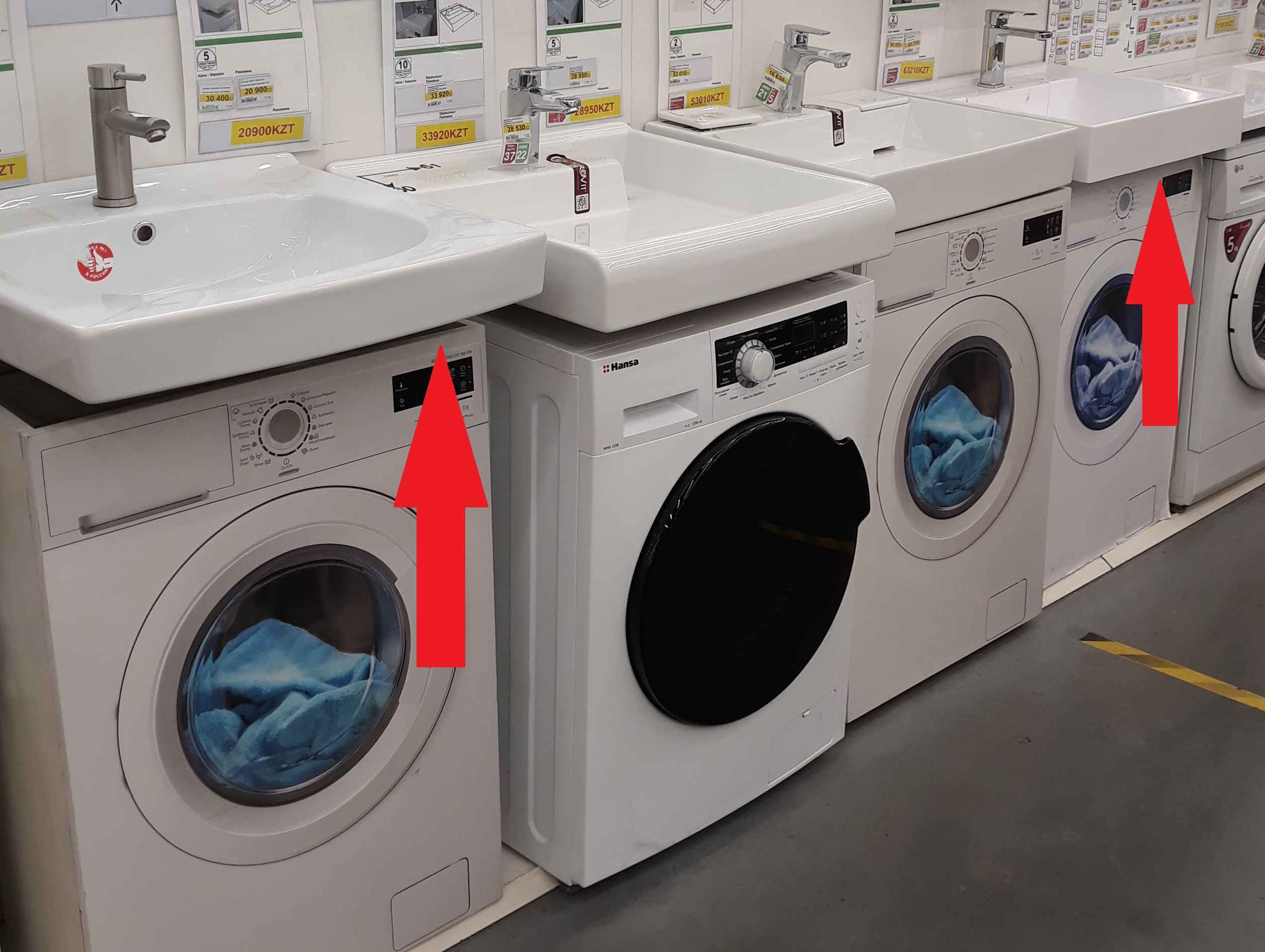 нюансы выбора раковины над стиральной машиной