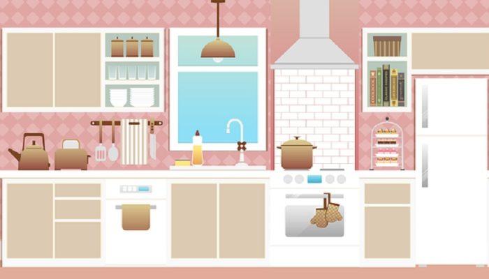 Розовый цвет в интерьере кухни. Может ли он выглядеть брутально?