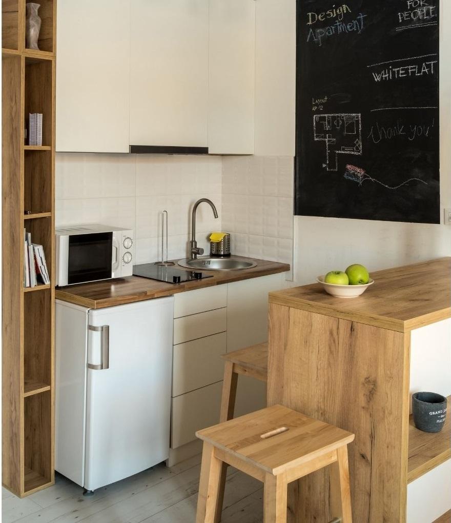 интерьер кухни в очень маленькой квартире