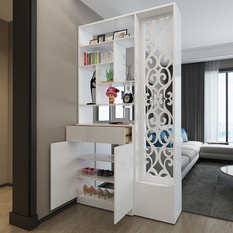 мебельные перегородки для зонирования пространства в комнате