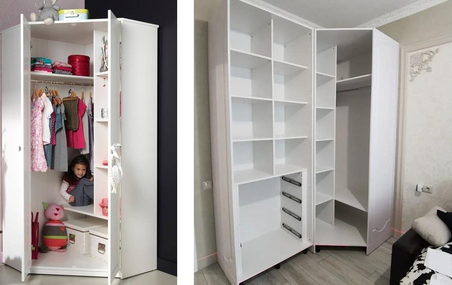 угловой шкаф для спальни и детской